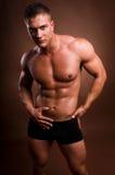 De mens van de bodybuilder. Stock Foto's
