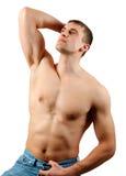 De mens van de bodybuilder stock foto's