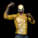 De mens van de clownmake-up Stock Foto's