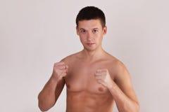 De mens van de combattant klaar te vechten Royalty-vrije Stock Fotografie