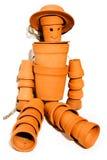 De mens van de de bloempot van het terracotta Royalty-vrije Stock Foto