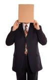 De mens van de doos openbaart Stock Foto