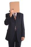 De Mens van de doos - trek een gezicht. Royalty-vrije Stock Fotografie