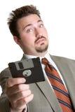 De Mens van de Floppy disk Stock Foto's