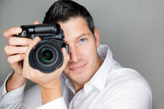 De mens van de foto Stock Afbeeldingen
