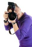 De mens van de fotograaf Stock Foto's