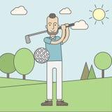 De mens van de golfspeler royalty-vrije illustratie
