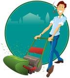 De Mens van de grasmaaier Stock Afbeelding