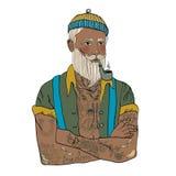 De mens van de Hipsterzeeman stock illustratie