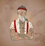 De mens van de Hipsterzeeman vector illustratie