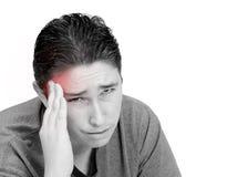 De mens van de hoofdpijn Stock Afbeelding