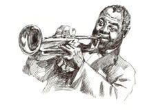 De mens van de jazz Stock Afbeeldingen