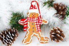 De mens van de Kerstmispeperkoek Stock Afbeeldingen