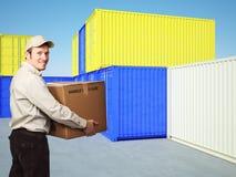 De mens van de levering Stock Foto's