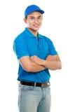 De mens van de levering Stock Foto