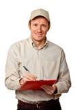 De mens van de levering Stock Afbeelding