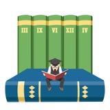 De mens van de lezing stock illustratie