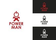 De Mens van de macht Stock Afbeeldingen