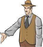 De mens van de maffia Royalty-vrije Illustratie