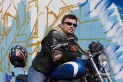 De Mens van de motorfiets Stock Afbeeldingen