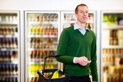 De Mens van de Opslag van de kruidenierswinkel Stock Afbeelding