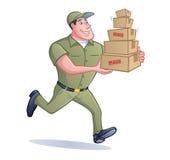 De Mens van de pakketlevering Stock Afbeeldingen