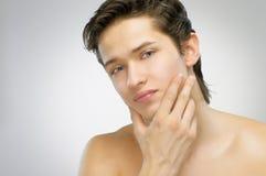 De mens van de schoonheid Stock Foto