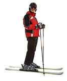 De mens van de skiër stock fotografie