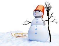 De mens van de sneeuw Stock Afbeeldingen