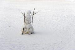 De mens van de sneeuw Royalty-vrije Stock Afbeeldingen