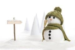 De mens van de sneeuw Stock Foto's