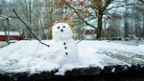 De mens van de sneeuw Royalty-vrije Stock Foto's