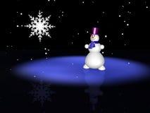 De mens van de sneeuw op ijs stock illustratie