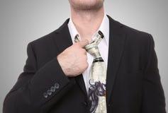 De Mens van de Spanning van de Effectenbeurs Royalty-vrije Stock Afbeeldingen