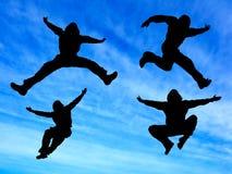 De mens van de sprong Stock Fotografie