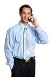 De Mens van de telefoon stock fotografie