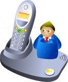 De mens van de telefoon Stock Afbeelding