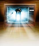 De mens van de televisie Stock Foto