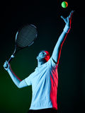 De mens van de tennisspeler Royalty-vrije Stock Afbeeldingen