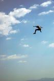 De mens van de vlieg Stock Fotografie