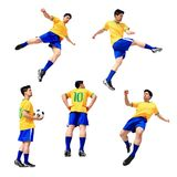 De mens van de voetbalvoetbalster Royalty-vrije Stock Afbeeldingen
