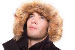 De mens van de winter Stock Fotografie