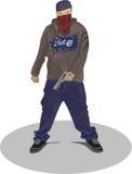 De mens van Gangsta Stock Afbeelding