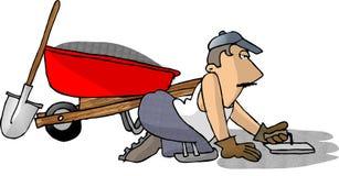 De Mens van het cement stock illustratie