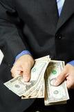 De mens van het geld Royalty-vrije Stock Afbeelding
