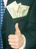 De mens van het geld Stock Fotografie