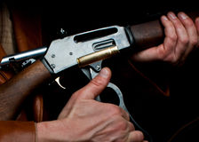 De mens van het geweer Royalty-vrije Stock Afbeeldingen