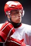 De mens van het hockey royalty-vrije stock foto