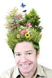 De mens van het milieu royalty-vrije stock foto