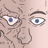De mens van het monstergezicht Royalty-vrije Stock Afbeeldingen